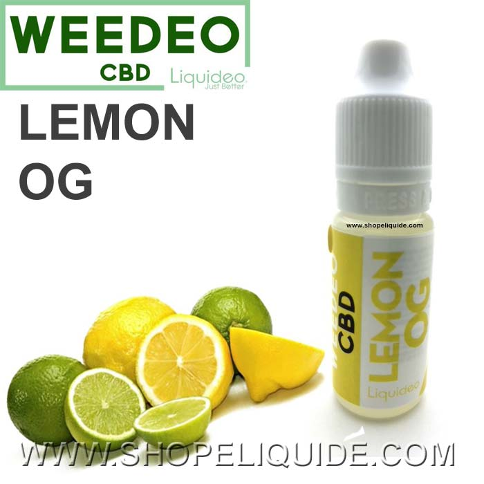 E LIQUIDE CBD LIQUIDEO WEEDEO LEMON