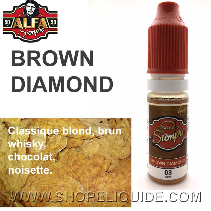 E-LIQUIDE ALPHA SIEMPRE BROWN DIAMOND 10 ML