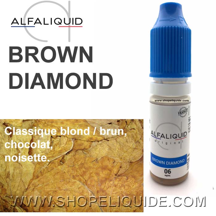 E-LIQUIDE ALFALIQUID TABAC BROWN DIAMOND