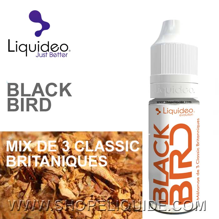 E-LIQUIDE LIQUIDEO TABAC BLACK BIRD