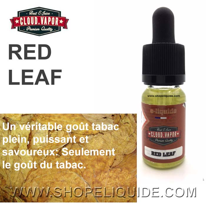 E-LIQUIDE CLOUD VAPOR RED LEAF