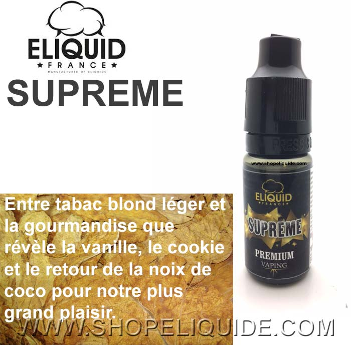 E-LIQUIDE ELIQUID FRANCE SUPREME