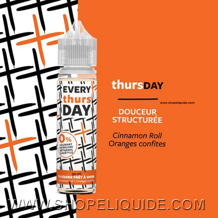 E-LIQUIDE EVERY DAY THURSDAY 50 ML