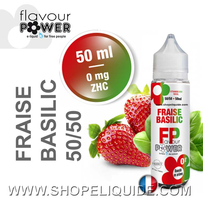 E-LIQUIDE FLAVOUR POWER FRAISE BASILIC 50 ML