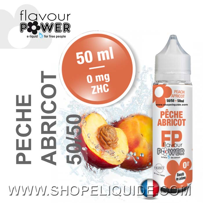 E-LIQUIDE FLAVOUR POWER PECHE ABRICOT 50 ML