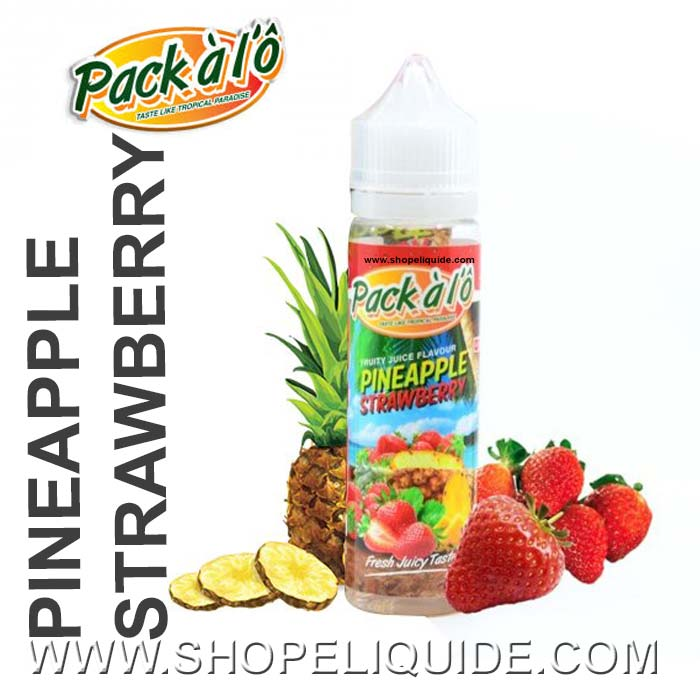 E-LIQUIDE PACK A LO PINEAPPLE STRAMBERRY